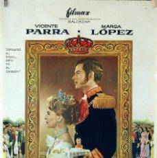 Cine: ¿DÓNDE VAS TRISTE DE TI?. VICENTE PARRA Y MARGA LÓPEZ. CARTEL ORIGINAL 1960. 100X70. Lote 74319711