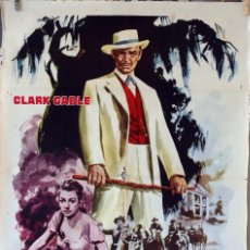 Cine: LA ESCLAVA LIBRE. CLARK GABLE-YVONNE DE CARLO. CARTEL ORIGINAL 1960. Lote 74320319