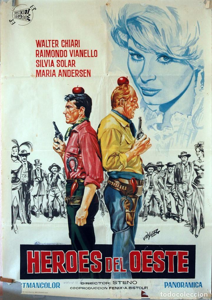 HÉROES DEL OESTE. STENO CARTEL ORIGINAL 1964. 100X70 (Cine - Posters y Carteles - Westerns)
