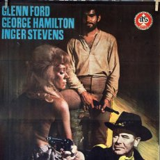 Cine: LA CABALGADA DE LOS MALDITOS. GLENN FORD. CARTEL ORIGINAL 1968. 100X70. Lote 74321155