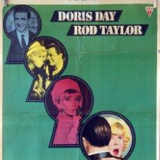 Cine: POR FAVOR, NO MOLESTEN. DORIS DAY-ROD TAYLOR. CARTEL ORIGINAL 1965. 100X70. Lote 74324015