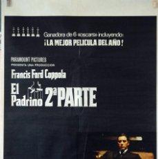Cine: EL PADRINO II PARTE. FRANCIS FORD COPPOLA. CARTEL ORIGINAL 1975. 100X70. Lote 74324975