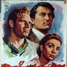 Cine: HORIZONTES DE GRANDEZA. GREGORY PECK-CHARLTON HESTON-JEAN SIMMONS. CARTEL ORIGINAL 1970. 100X70. Lote 74326239
