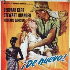 Cine: LAS MINAS DEL REY SALOMÓN. DEBORAH KERR-STEWART GRANGER. CARTEL ORIGINAL 1963. 100X70. Lote 74326615