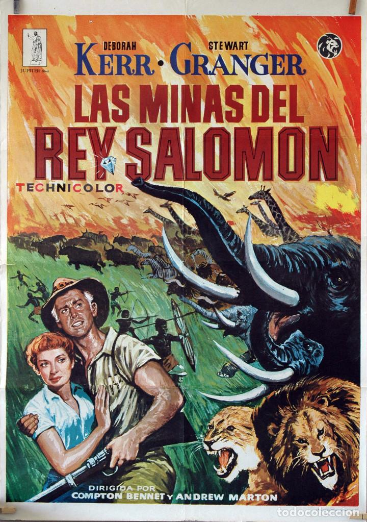 LAS MINAS DEL REY SALOMÓN. DEBORAH KERR-STEWART GRANGER. CARTEL ORIGINAL 1979. 100X70 (Cine - Posters y Carteles - Aventura)