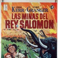 Cine: LAS MINAS DEL REY SALOMÓN. DEBORAH KERR-STEWART GRANGER. CARTEL ORIGINAL 1979. 100X70. Lote 74327143