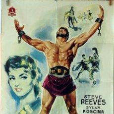 Cine: HÉRCULES. STEVE REEVES. CARTEL ORIGINAL 1959. 100X70. Lote 74328315