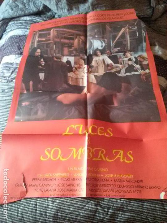 LUCES Y SOMBRAS. POSTER. CARTEL 100 X 70 CM. ORIGINAL. DOBLADO. CON TARAS (Cine - Posters y Carteles - Acción)