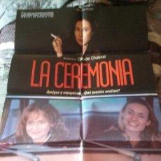 Cinema: LA CEREMONIA. CARTEL. POSTER. ORIGINAL. 70 X 100. BUEN ESTADO. Lote 74355539