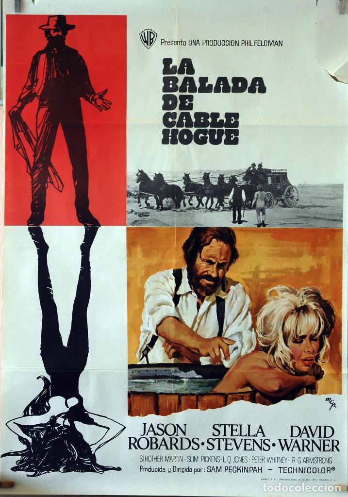 LA BALADA DE CABLE HOGUE. SAM PECKIMPAH-JASON ROBARDS-STELLA STEVENS. CARTEL ORIGINAL 1970 (Cine - Posters y Carteles - Westerns)