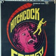 Cine: FRENESÍ. ALFRED HITCHCOCK. CARTEL ORIGINAL 1972. 100X70. Lote 74478887