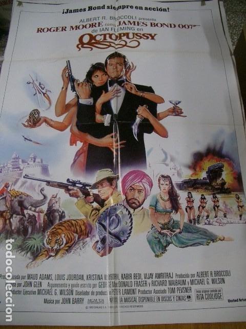 JAMES BOND, AGENTE 007 OCTOPUSSY POSTER ORIGINAL 70X100CM (Cine - Posters y Carteles - Acción)
