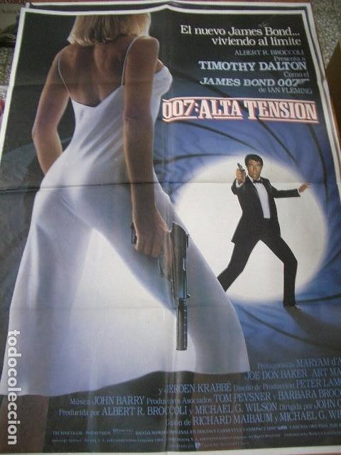 POSTER ORIGINAL DE 70X100CM ALTA TENSIÓN , 007 JAMES BOND (Cine - Posters y Carteles - Acción)