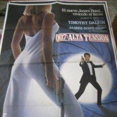 Cine: POSTER ORIGINAL DE 70X100CM ALTA TENSIÓN , 007 JAMES BOND. Lote 74479639