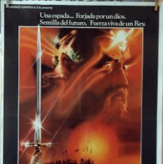 Cine: EXCALIBUR. JOHN BOORMAN. CARTEL ORIGINAL 1981. 100X70. Lote 74482915
