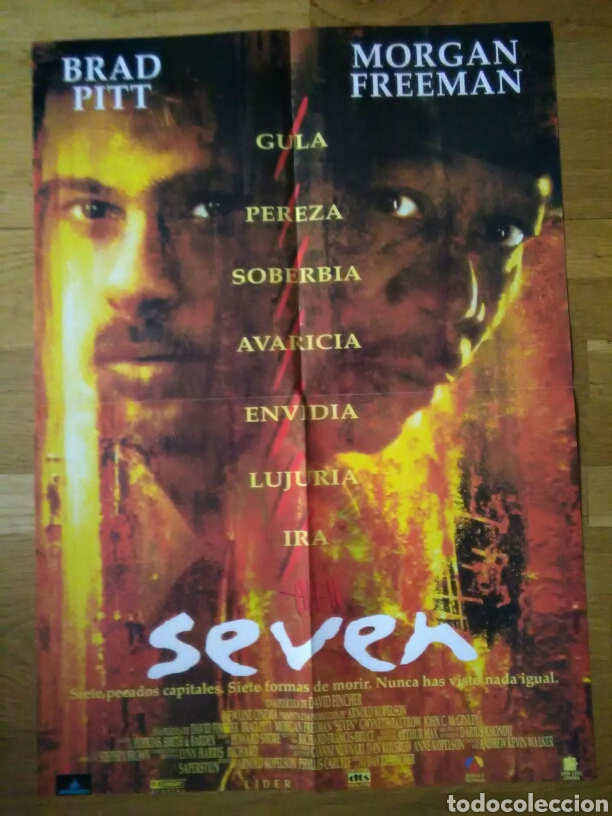 PÓSTERS SEVEN - MUERTE SÚBITA 57 X 41 (Cine - Posters y Carteles - Suspense)
