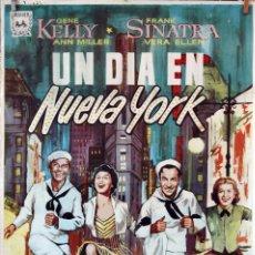 Cine: UN DÍA EN NUEVA YORK. GENE KELLY-FRANK SINATRA. CARTEL ORIGINAL 1968. 100X70. Lote 84482414