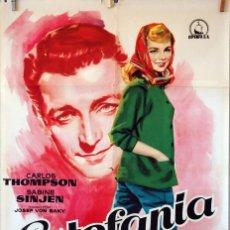 Cine: ESTEFANÍA. CARTEL ORIGINAL 1958. 100X70. Lote 74688119