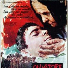 Cine: SALVATORE GIULIANO. FRANCESCO ROSI. CARTEL ORIGINAL 1963. 100X70. Lote 74688899
