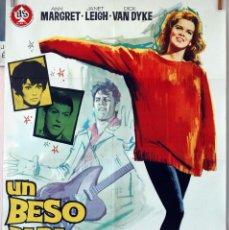 Cine: UN BESO PARA BIRDIE. ANN MARGRET-JANET LEIGH-DICK VAN DYKE. CARTEL ORIGINAL 1964. 100X70. Lote 74707575
