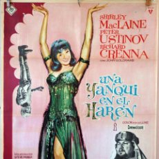 Cine: UNA YANQUI EN EL HARÉN. SHIRLEY MACLAINE-PETER USTINOV. CARTEL ORIGINAL 1965. 100X70. Lote 74710271