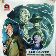 Cine: LAS GARRAS INVISIBLES DEL DOCTOR MABUSE. LEX BARKER. CARTEL ORIGINAL 1963. 100X70. Lote 74890071