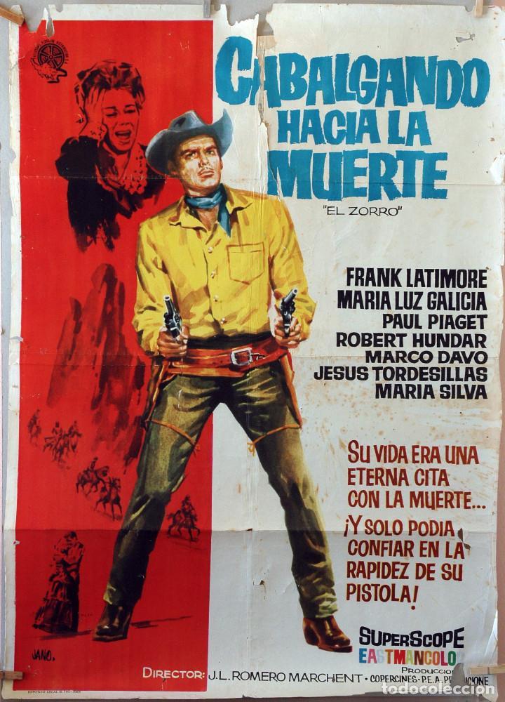 CABALGANDO HACIA LA MUERTE. CARTEL ORIGINAL 1963. 100X70 (Cine - Posters y Carteles - Westerns)