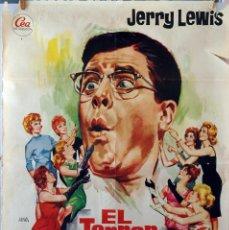 Cine: EL TERROR DE LAS CHICAS. JERRY LEWIS. CARTEL ORIGINAL. 100X70. Lote 74895651