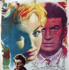 Cine: UNA RUBIA PELIGROSA. CARTEL ORIGINAL 1960. 100X70. Lote 74896179