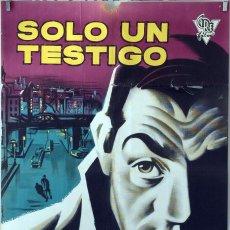 Cine: SÓLO UN TESTIGO. LINO VENTURA. CARTEL ORIGINAL 1959. 100X70. Lote 74975979