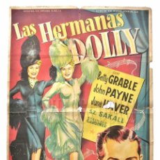 Cine: CARTEL POSTER ORIGINAL + GUÍA PROGRAMA *LAS HERMANAS DOLLY* BETTY GRABLE JOHN PAYNE. SOLIGÓ. Lote 74981711