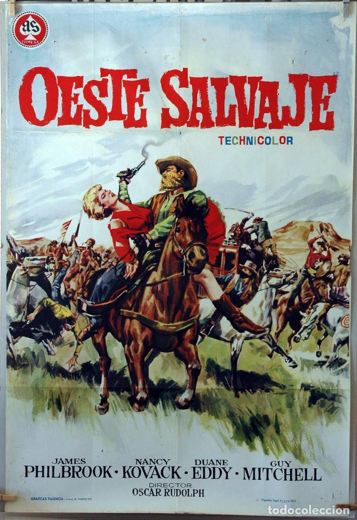 OESTE SALVAJE. CARTEL ORIGINAL 1962. 100X70 (Cine - Posters y Carteles - Westerns)