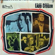 Cine: 13 CALLE OESTE. ALAN LADD-ROD STEIGER. CARTEL ORIGINAL 1962. 100X70. Lote 75009743
