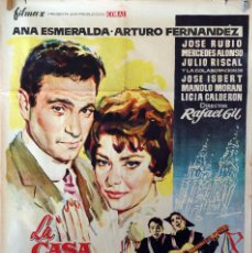 Cine: LA CASA DE LA TROYA. ARTURO FERNÁNDEZ-ANA ESMERALDA. CARTEL ORIGINAL 1959. 100X70. Lote 75009895