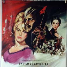 Cine: DOCTOR ZHIVAGO. DAVID LEAN-OMAR SHARIF-JULIE CHRISTIE. CARTEL ORIGINAL 1966. 100X70. Lote 75026479