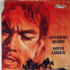 Cine: HOMBRE O DEMONIO. ANTHONNY QUINN-SOFIA LOREN. CARTEL ORIGINAL 1972. 100X70. Lote 75029343