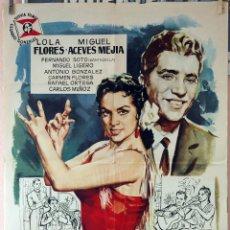 Cine: ÉCHAME LA CULPA. LOLA FLORES-MIGUEL LIGERO. CARTEL ORIGINAL 1959. 100X70. Lote 75031227