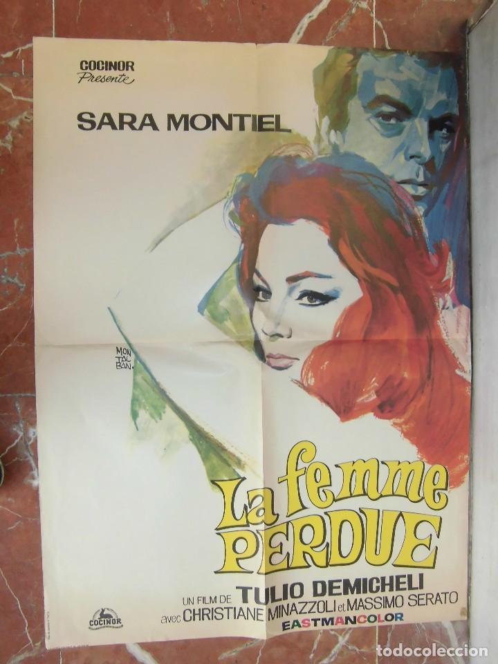 SARA MONTIEL CARTEL DE LA PELICULA LA MUJER PERDIDA ECHO EN FRANCIA 58 X 80 CTMS. (Cine - Posters y Carteles - Clasico Español)