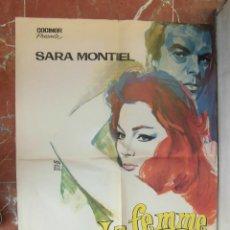 Cine: SARA MONTIEL CARTEL DE LA PELICULA LA MUJER PERDIDA ECHO EN FRANCIA 58 X 80 CTMS.. Lote 75156763