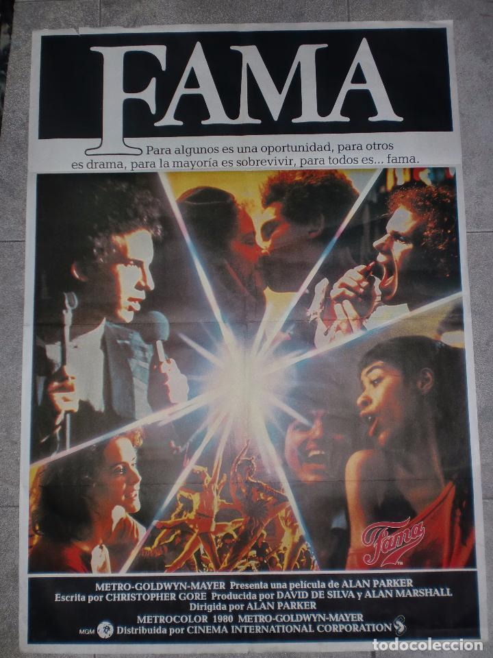 CARTEL DE CINE. FAMA. 97 X 68,5 CM. (Cine - Posters y Carteles - Musicales)