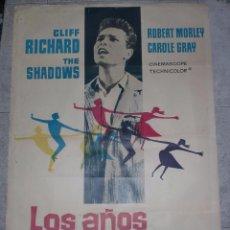 Cine: CARTEL DE CINE. LOS AÑOS JOVENES. 99 X 68 CM. Lote 75187883