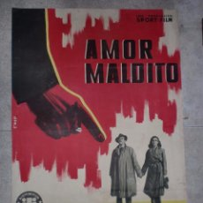 Cine: CARTEL DE CINE. AMOR MALDITO. 99 X 68,5 CM.. Lote 75197883