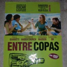 Cinéma: CARTEL DE CINE. ENTRE COPAS. 99 X 67,5 CM. Lote 75200659