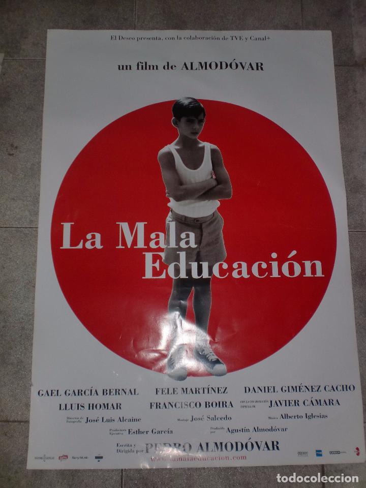 CARTEL DE CINE. LA MALA EDUCACIÓN. 99 X 67,5 CM (Cinema - Film Posters - Drama)