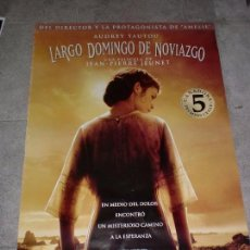 Cine: CARTEL DE CINE. LARGO DOMINGO DE NOVIAZGO. 99 X 67,5 CM. Lote 75203471