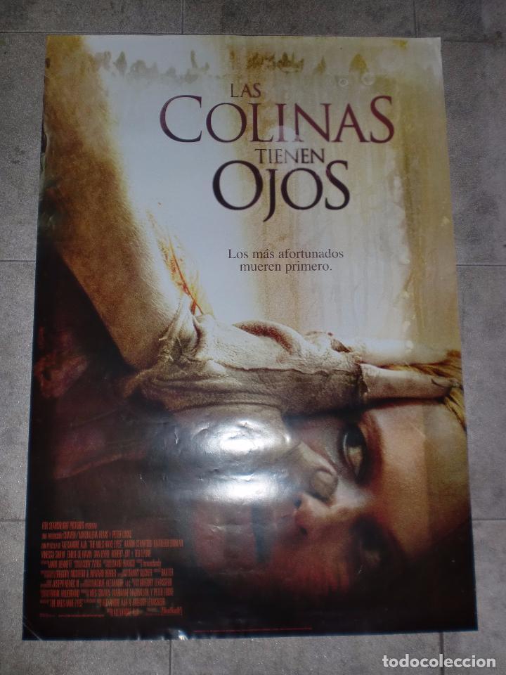 CARTEL DE CINE. LAS COLINAS TIENEN OJOS. 100 X 70 CM. (Cine - Posters y Carteles - Terror)