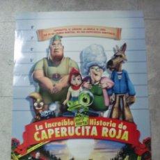 Cine: CARTEL DE CINE. LA INCREIBLE HISTORIA PERO CIERTA DE CAPERUCITA ROJA. 100 X 70 CM.. Lote 75447539