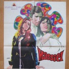 Cine: CARTEL CINE, CANTANDO A LA VIDA, MASSIEL, PEPE CALVO, JANO, 1968, C309. Lote 75522031