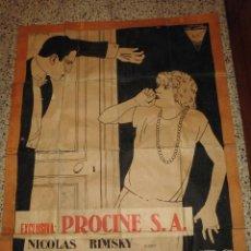 Cine: ESPECTACULAR GRAN CARTEL DE CINE DEL 1926,PARIS EN 5 DIAS,PROTAGONISTA DOLLY DAVIS. Lote 75556939