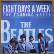 Cine: BEATLES POSTER CARTEL PELICULA EIGHT DAYS A WEEK ESPAÑOL EDICION LIMITADA 62 X 62 CM. Lote 165653560